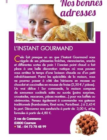 L'instant Gourmand Cournon-d'Auvergne