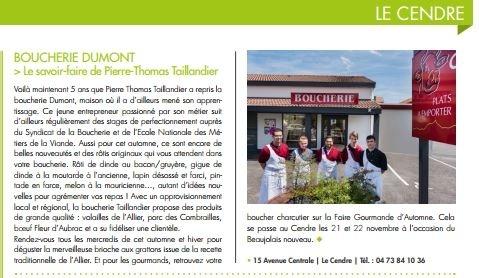 BOUCHERIE CHARCUTERIE Plats à emporter TAILLANDIER Pierre Thomas Le Cendre