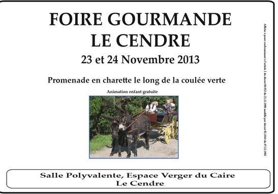 FOIRE GOURMANDE LE CENDRE