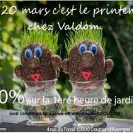 Valdom fête le printemps 20% sur la 1ère heure de jardinage VALDOM